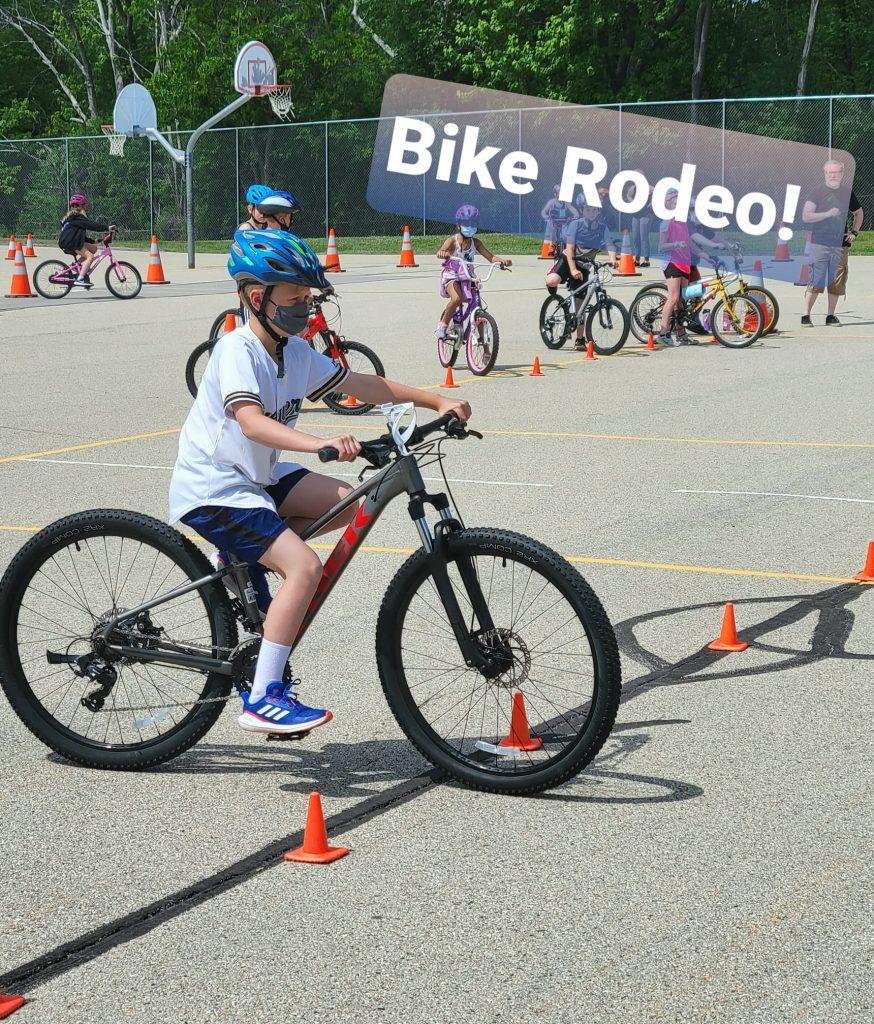 third grader in the bike rodeo